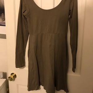 Angie Olive Long Sleeve Dress